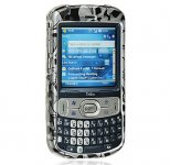 Palm Treo 800w Crystal Case Black Skull