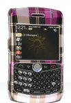 Blackberry Curve 8300 Pink Checkered Crystal Case