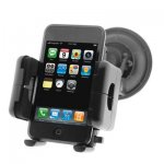 Premium Universal Car Mount Holder for GPS / PDA / Cell phone / Ipod / MP3 Player Mounting on Windshield, Dash, or AC Vent Black